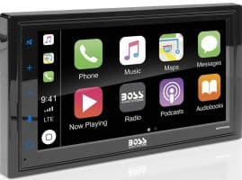 BOSS Audio BVCP9685A Apple Carplay Android Auto Car Multimedia Player - Double Din Car Stereo, 6.75 Inch LCD Touchscreen Monitor, Bluetooth, MP3 Player, USB Port,